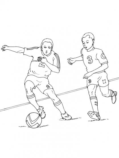 Coloriages à imprimer : Football, numéro : 459874
