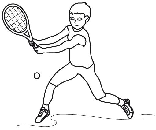 Coloriages à imprimer : Tennis, numéro : 459998
