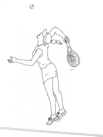 Coloriages à imprimer : Tennis, numéro : 460011