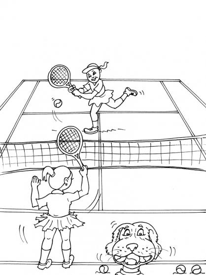 Coloriages à imprimer : Tennis, numéro : 460013