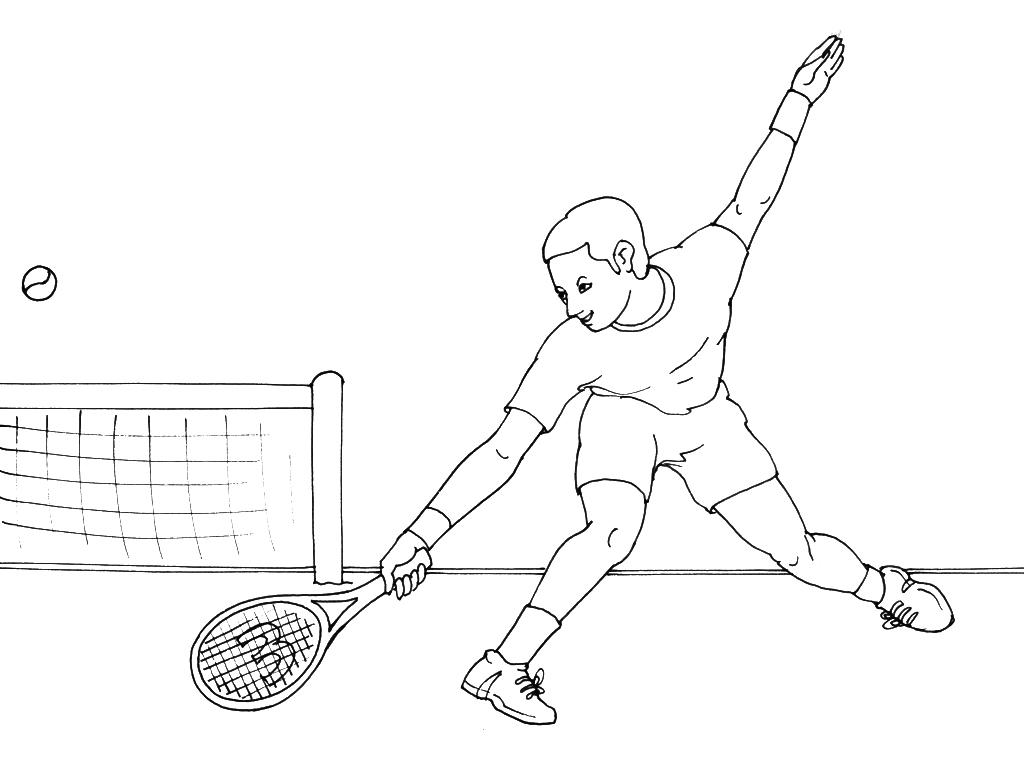 Coloriages à imprimer : Tennis, numéro : 460014
