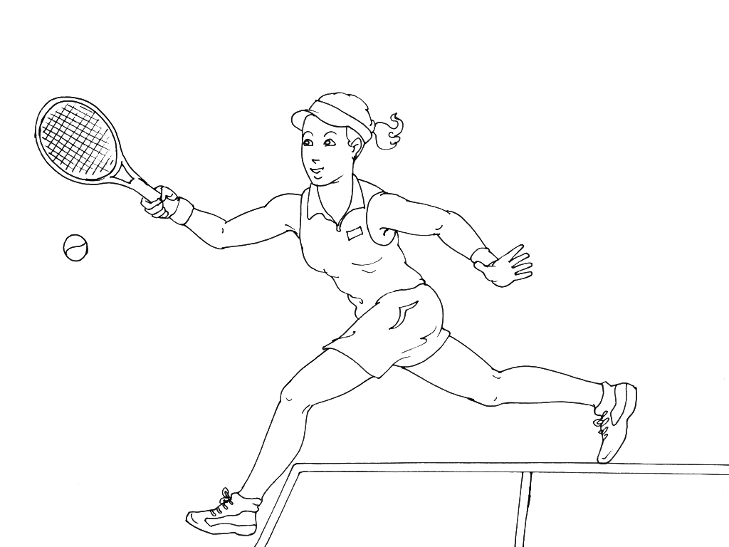 Coloriages à imprimer : Tennis, numéro : 460019