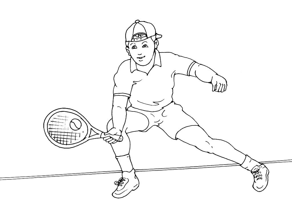 Coloriages à imprimer : Tennis, numéro : 460027