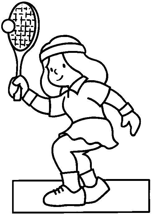 Coloriages à imprimer : Tennis, numéro : 460028