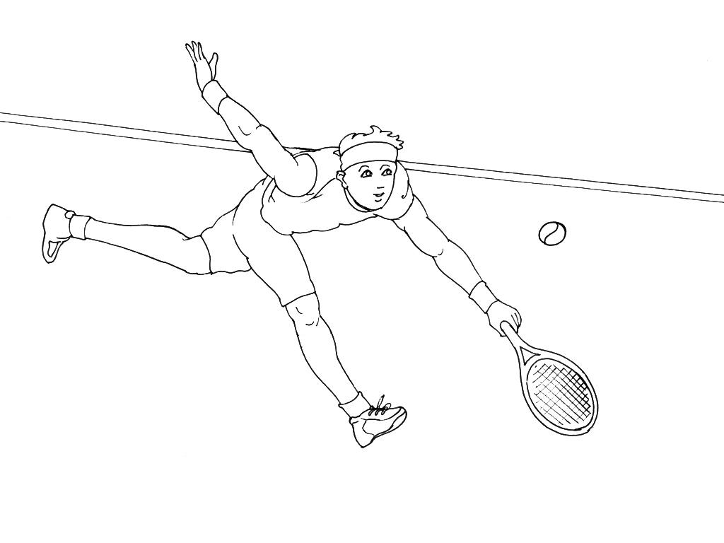 Coloriages à imprimer : Tennis, numéro : 460029