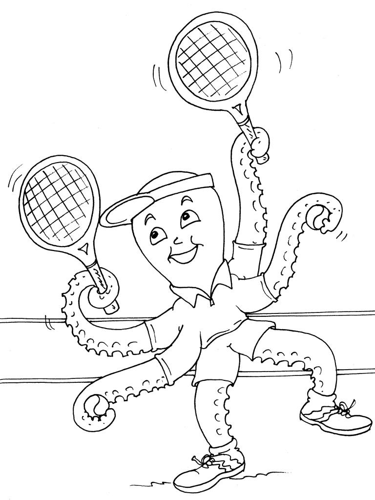 Coloriages à imprimer : Tennis, numéro : 460030