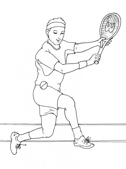 Coloriages à imprimer : Tennis, numéro : 460032