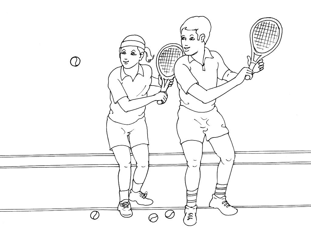 Coloriages à imprimer : Tennis, numéro : 460034