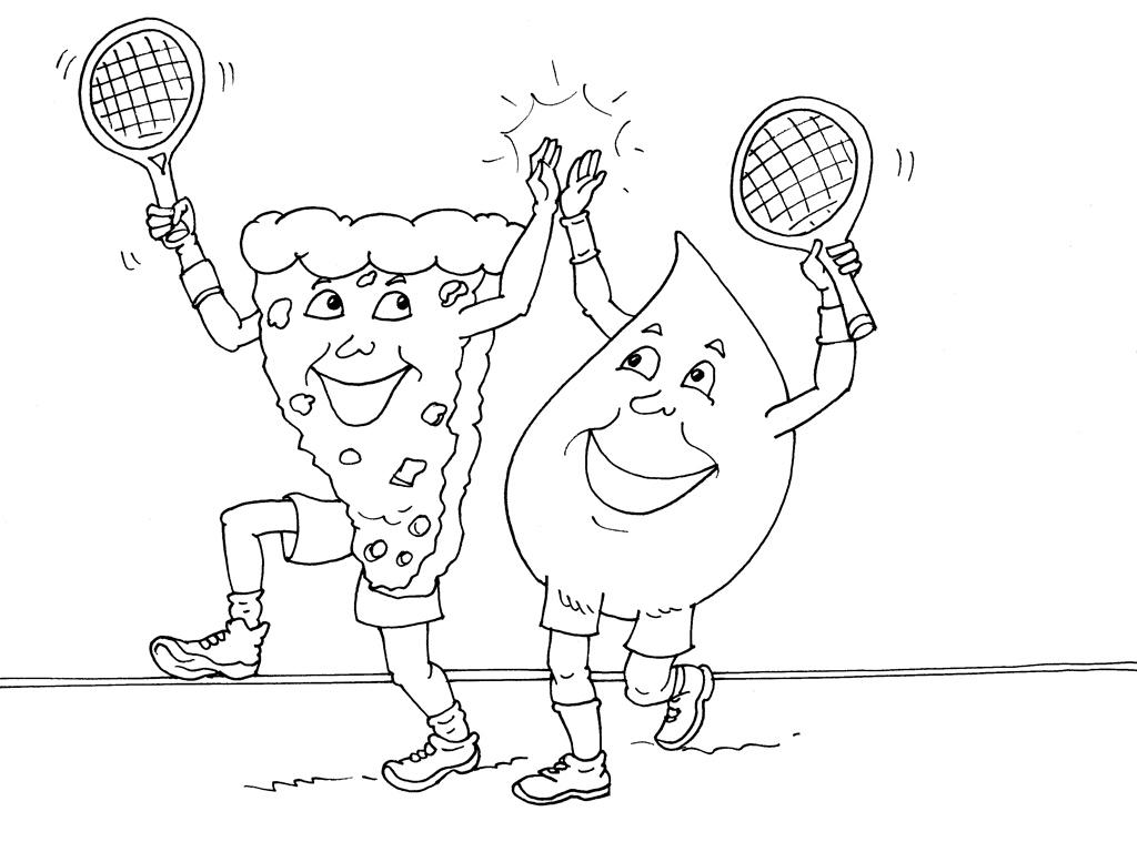 Coloriages à imprimer : Tennis, numéro : 460036