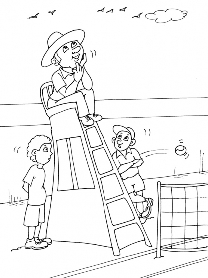 Coloriages à imprimer : Tennis, numéro : 460038
