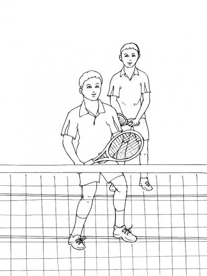 Coloriages à imprimer : Tennis, numéro : 460039
