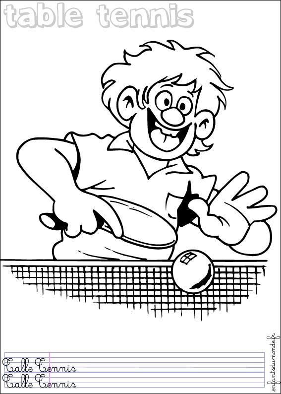 Dessins en couleurs à imprimer : Tennis, numéro : 464575