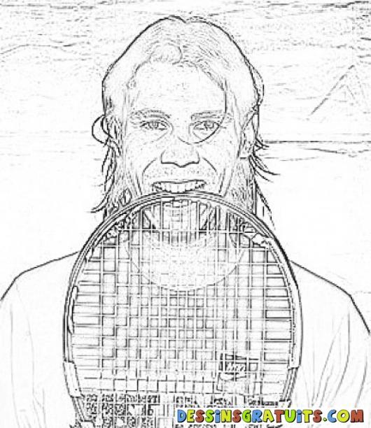 Dessins en couleurs à imprimer : Tennis, numéro : 464753
