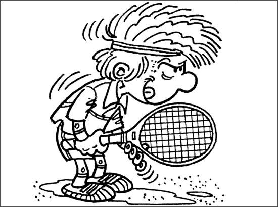 Coloriages à imprimer : Tennis, numéro : 469858