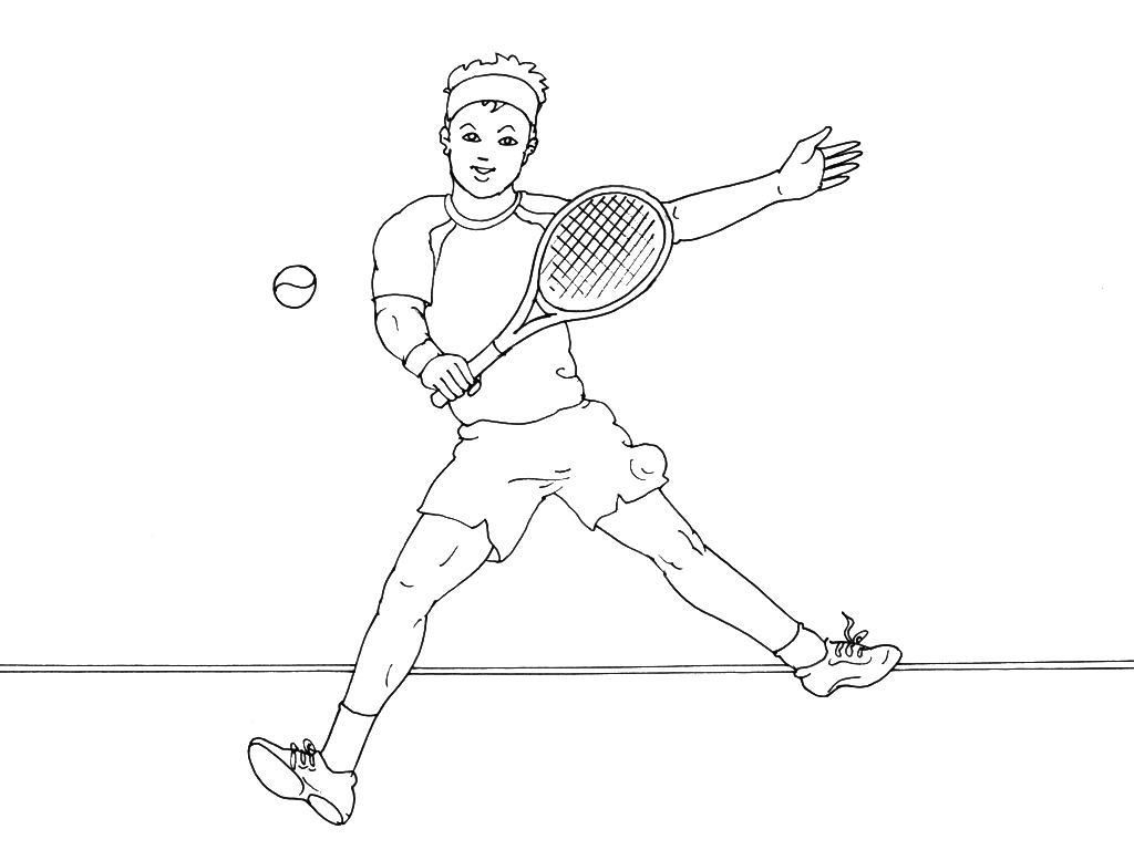 Coloriages à imprimer : Tennis, numéro : 469865