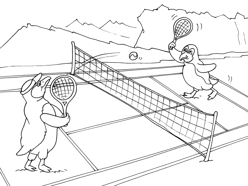 Coloriage imprimer sports tennis num ro 504921 for Barbie chien piscine