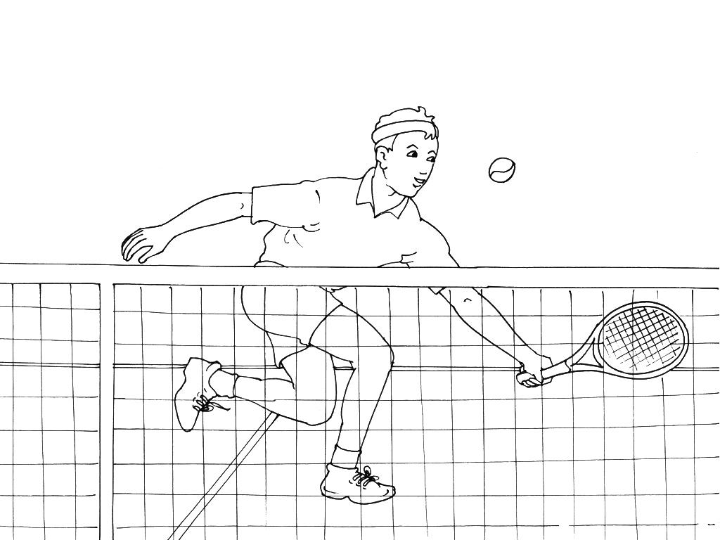 Coloriages à imprimer : Tennis, numéro : 521618