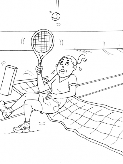 Coloriages à imprimer : Tennis, numéro : 585472