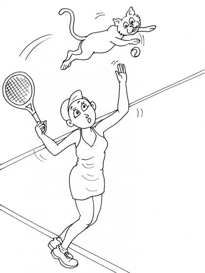Coloriages à imprimer : Tennis, numéro : 585473