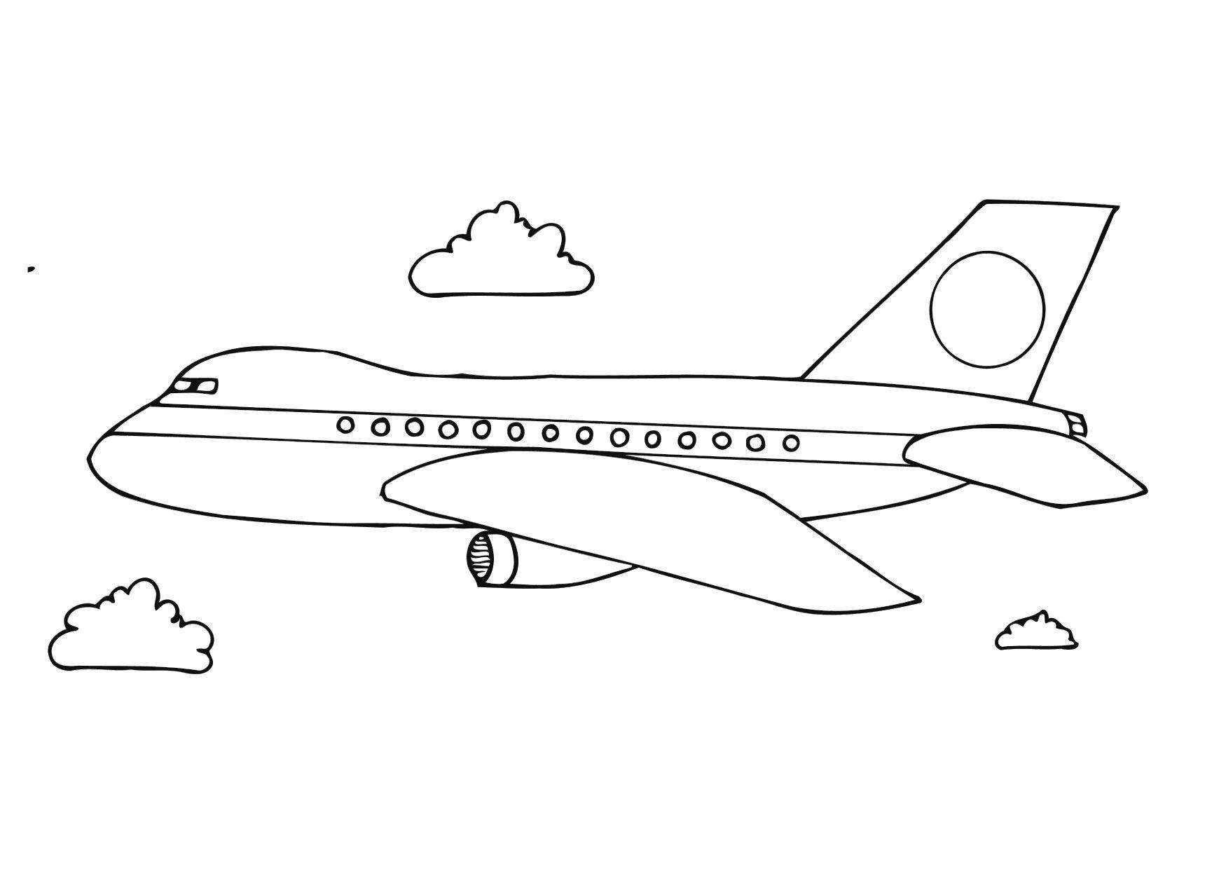 Coloriages à imprimer : Avion, numéro : 3565