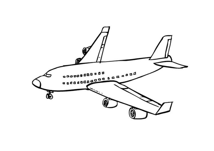 Coloriages à imprimer : Avion, numéro : 3568