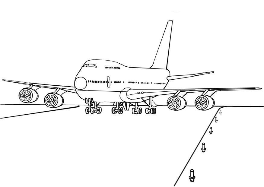 Coloriages à imprimer : Avion, numéro : 3577