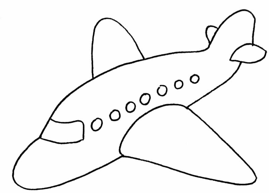 Coloriages à imprimer : Avion, numéro : 3588
