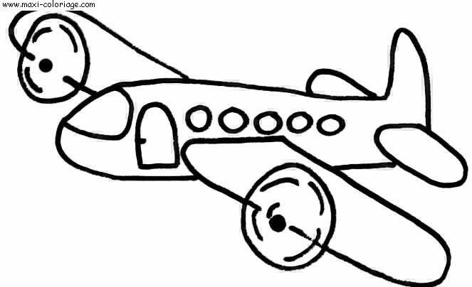 Coloriages à imprimer : Avion, numéro : 53827