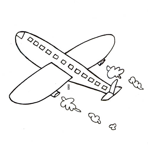 Dessins en couleurs imprimer avion num ro 70370 - Dessin d avion facile ...
