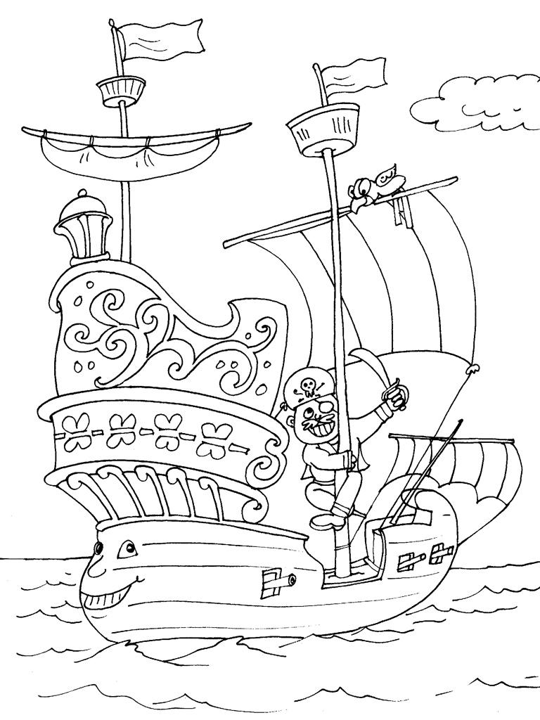 Coloriages imprimer bateau num ro 129693 - Coloriage mini loup et les pirates ...