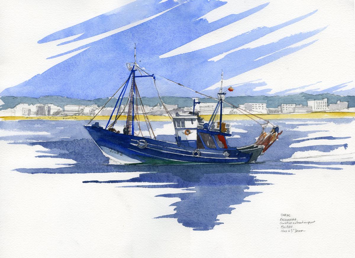 Dessin en couleurs imprimer v hicules bateau num ro - Dessin de pecheur a imprimer ...