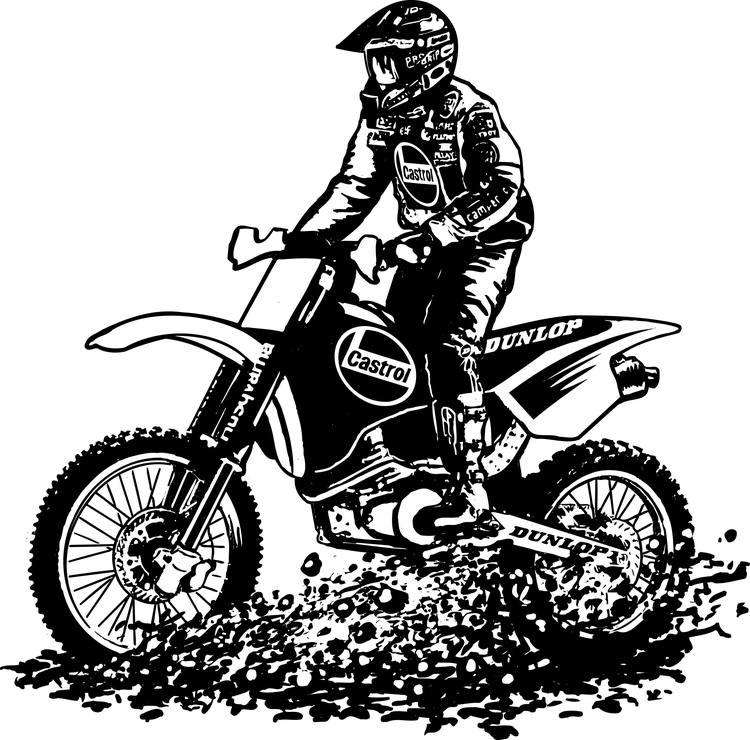 Coloriages à imprimer : Moto, numéro : 16899