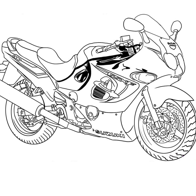 Coloriages à imprimer : Moto, numéro : 16915