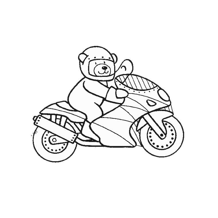 Coloriages à imprimer : Moto, numéro : 24701