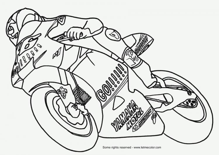 Coloriages à imprimer : Moto, numéro : 27678