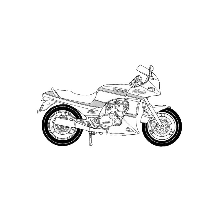 Coloriages à imprimer : Moto, numéro : 58675
