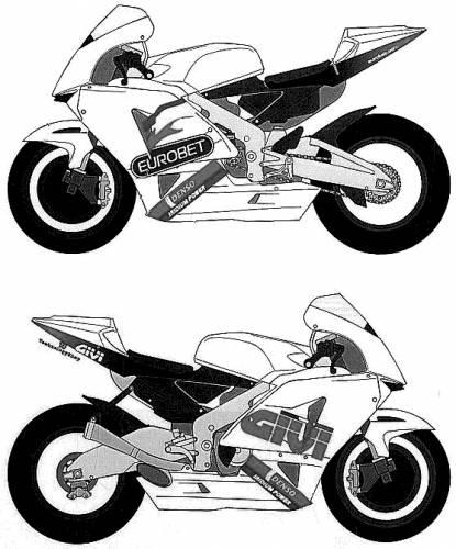 Coloriages à imprimer : Moto, numéro : 7698