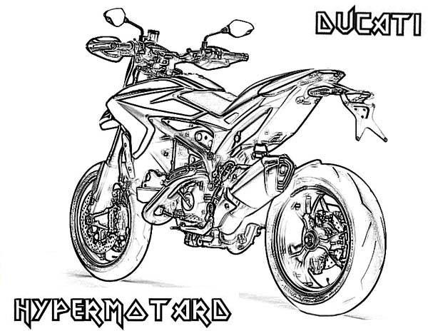 Dessin moto ducati id e d 39 image de moto - Coloriage de moto ...