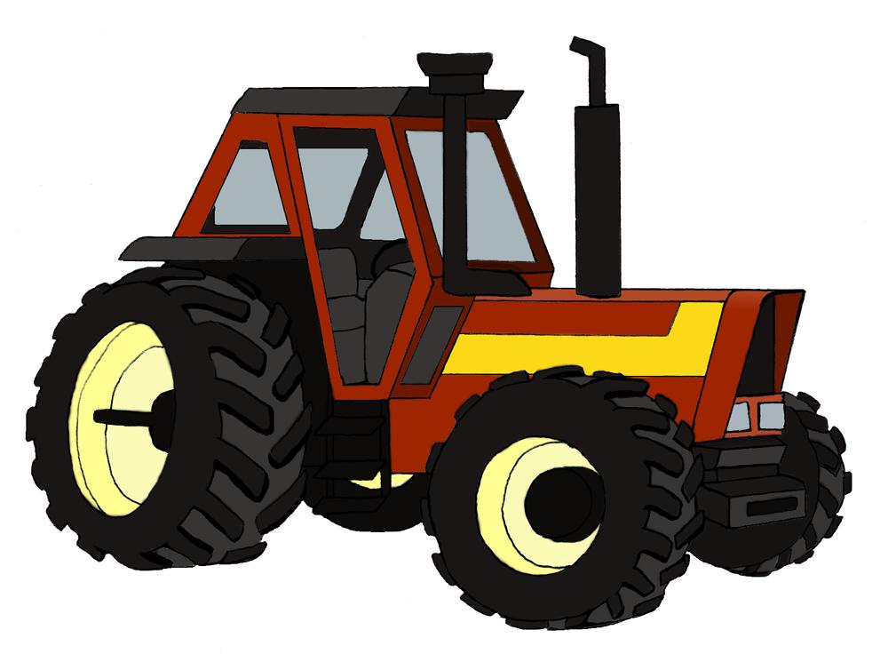 Dessins En Couleurs à Imprimer : Tracteur, Numéro : 165537
