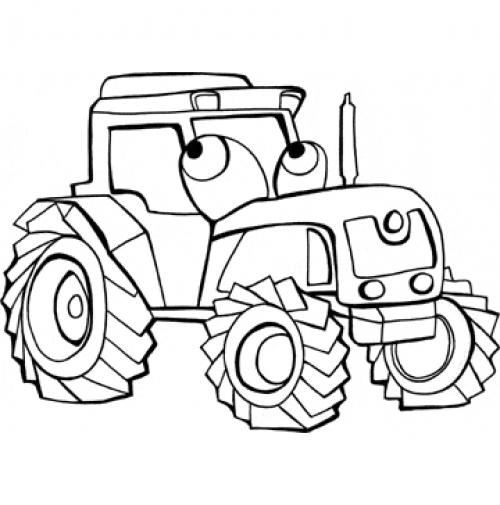 Coloriages imprimer Tracteur num ro 16974