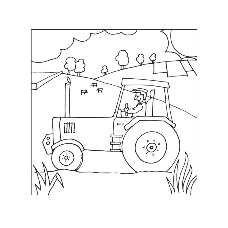 Coloriages à Imprimer Tracteur Numéro 16979