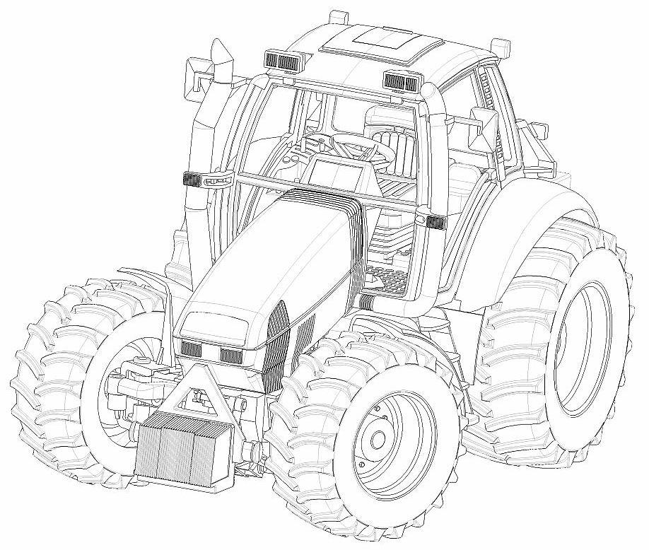 Coloriages à imprimer : Tracteur, numéro : 16980