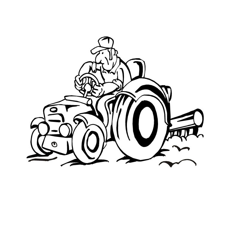 Coloriages à imprimer : Tracteur, numéro : 24706