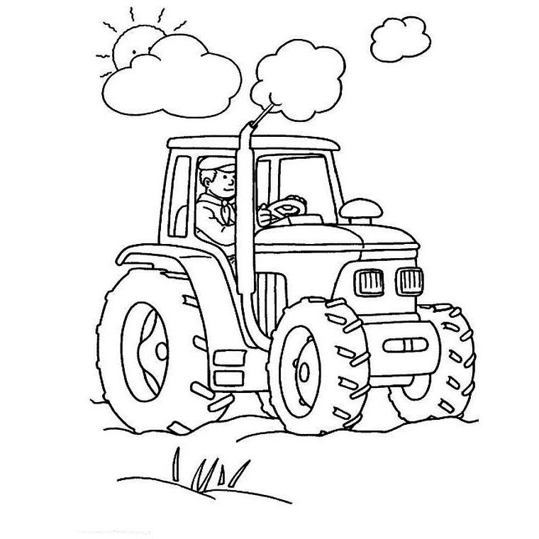 Coloriages à imprimer : Tracteur, numéro : 27854