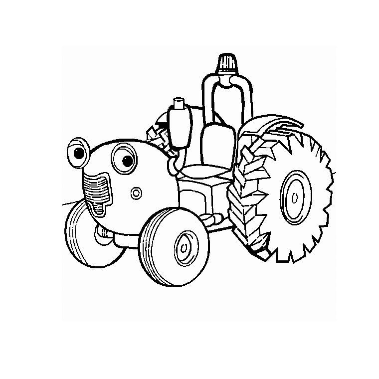 Coloriages à imprimer : Tracteur, numéro : 3691