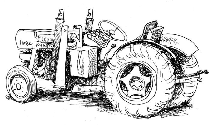Coloriages à imprimer : Tracteur, numéro : 3694