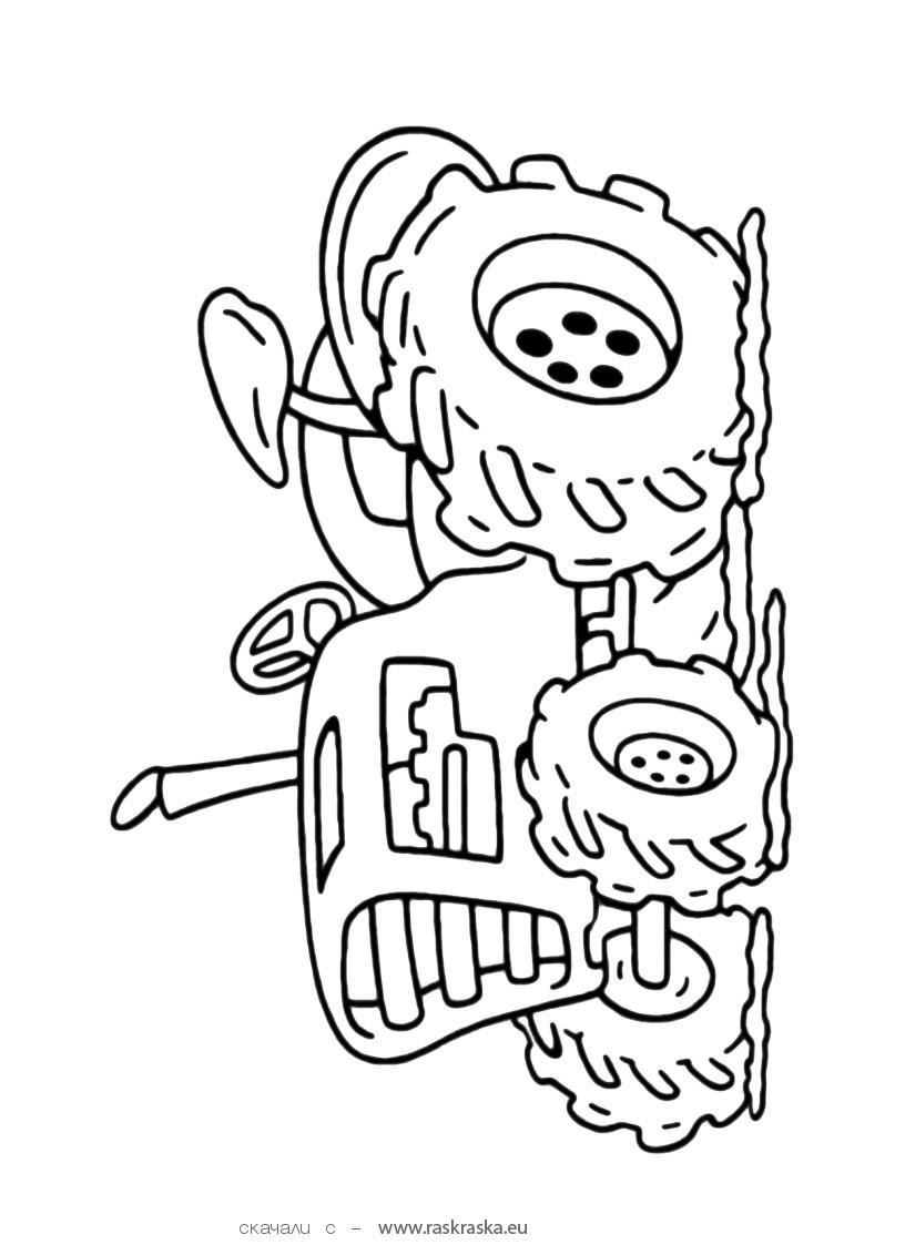 Coloriages à imprimer : Tracteur, numéro : 3708