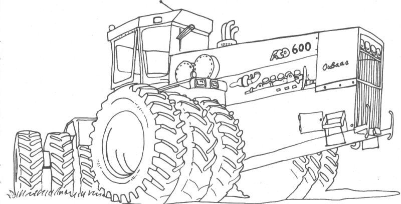 Раскраски трактора бесплатно