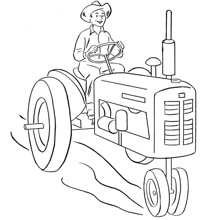 Coloriages à imprimer : Tracteur, numéro : 53748