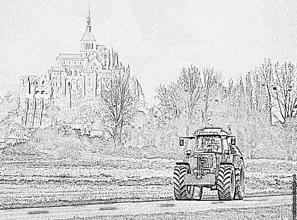Coloriages à imprimer : Tracteur, numéro : 61873